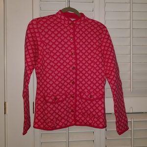 NWOT Isaac Mizrahi Quilted Mandarin Collar Jacket